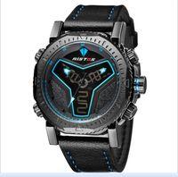 markalı saatler çin toptan satış-2017 Yeni Deri Erkek Longbo Erkekler Için Saatler Çin Tasarım Saatler Üst Marka Kuvars Saatler Erkekler Için Noel Hediyesi
