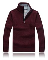 Wholesale Cashmere Jerseys Hombre - New Sweater Men Winter Keep Warm Knitwear Thick Cashmere Christmas Pullovers Sweaters Jumper Jersey Hombre Male Casual Outerwear SY118