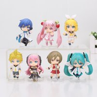 Wholesale Miku Figures - 7pcs set 5-7cm Hatsune Miku Luka Kagamine Rin Len PVC Action mini figure toys For kid Gifts