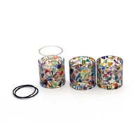 Wholesale Pyrex Floral - TFV12 Epoxy Resin Tube Kit With Pyrex Glass Tubes Floral Resin Tubes 4 Silicone Ring For Smok TFV12 Tank 6ml Atomizers DHL FREE