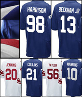 Wholesale Giants Rugby - Men Elite Giant Odell Beckham Jr Janoris Jenkins Michael Strahan Lawrence Taylor Evan Engram Damon Harrison short Landon Collins Jerseys