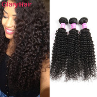 Wholesale Virgin Indian Curly Weave Hairstyles - Wholesale Cheap Glary Unprocessed Mink Brazilian Kinky Curly Hairstyles Remy Human Hair Extensions Malaysian Kinky Curly Hair Weave Bundles