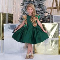 Vestido de fiesta verde esmeralda de nina