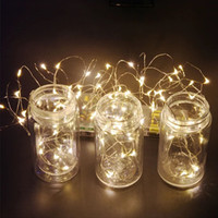 Wholesale Wholesale Tiny Led Lights - Wholesale- 2M 5M 10M LED 3AA Battery Operated Copper Wire Colorful Tiny String Fairy Light for Christmas Holiday Wedding Party Decoration