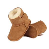 kürk bebek ayakkabıları toptan satış-kış bebek Birinci Yürüyenler bebeklerin sıcak ayakkabı Taklit kürk kız bebek patikleri Deri erkek bebek botları