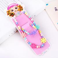 Wholesale Wholesale Bow Tie Bracelet - 7 Styles Kawaii Kids Necklace Bracelet Set For Sale Candy Color Bead Necklace Star Bow Tie Flower Choker