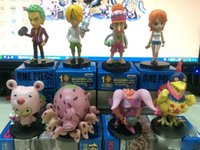 Wholesale Nendoroid Pieces - MVCF 5 style One piece Nami Roronoa Zoro Sanji 8 pcs set nuts and bolts toykit collection box-packed Nendoroid model toy T7315