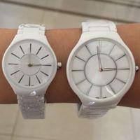 Wholesale Luxury Watch Couples - New RD Ceramic Couple Men Women Watch Quartz Movement Man Lady Dress Watches For Lover's