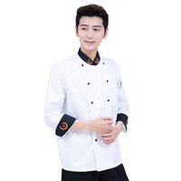 Wholesale Restaurant Button - High Quality Restaurant Kitchen Man Chef Working Clothes Long Sleeve Chef Jacket Autumn and Winter Hotel Working Wear UC0261