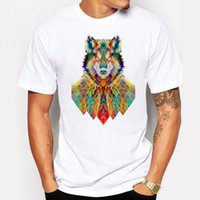 Campeggio Escursionismo T-Shirt Estate T-Shirt Uomo Cool Wolf animale anime Cartoon Stampa 3d T Shirt Bianco hip hop divertente Casual Tshirt Homme