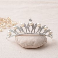 Wholesale Water Pearls Decoration - Water Drop Shaped Pearl Rhinestone Crowns Tiaras For Bridals Party Tiaras Crowns Bridal Headbands Hair Accessories Hair Decorations