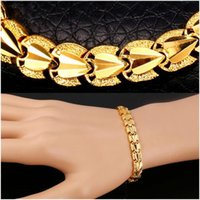 Wholesale Fishing Hooks For Sale - High Quality Heart Love Bracelets Sale Gold Color Bracelets & Bangles Chain For Men Women Gift Party Jewelry Trendy Gift Fashion Accessories
