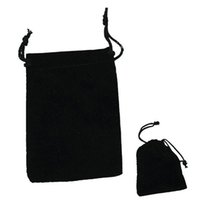 Wholesale Velvet Pouches For Jewellery - 120pcs lots black velvet bags, jewellery pouches, 7*9CM 9*12CM Perfect flannelette bag For Jewelry, Wedding Favors, and Gift Packaging
