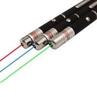 laser de navidad al por mayor-Luz roja verde Laser Pen Beam Puntero láser Pen para SOS Montaje Night Hunting enseñanza regalo de Navidad Opp paquete DHL envío gratis