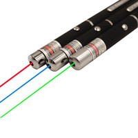 lazer öğretmek toptan satış-Yeşil Kırmızı ışık Lazer Kalem Işın Lazer Pointer Kalem SOS Montaj Gece Avcılık öğretim Için Noel hediye Opp Paket DHL Ücretsiz Kargo
