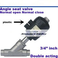 Wholesale Pneumatic actuated weld ends angle seat valves quot inch DN20 normal open closed double acting steam plastic head SS304 body