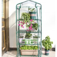 Wholesale Four layers of flower greenhouses planting flowers and flower sprouts home balcony Mini Greenhouse