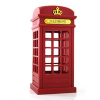 Wholesale free bedside table - Retro London Telephone Booth Night Light USB Battery Dual-Use LED Bedside Table Lamp luminarias Best Gift Free Shipping ZA2643