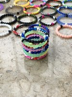 Wholesale Bag Strand - 200pcs 56 colors silicone balance bracelet S M L XL silicone bands with tag opp bag R019
