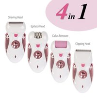Wholesale Foot Buffer - Wet and Dry Cordless Best Epilator and Shaver, with Four Attachments including Pedicure Buffer for Foot Care