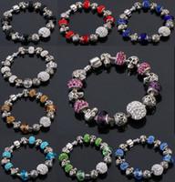 Wholesale Skull Infinity Bracelet - beaded charms jewelry Skull bracelets infinity beads bracelet new fashion 9 colors charm Jewelry fashion Cute European Beads bracelet