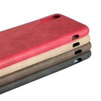 capas móveis feitas à mão venda por atacado-Mais novo handmade do vintage pu capa de couro para iphone x xs max xr 8 7 mais 7 6 s ultra fino e macio telefone móvel case