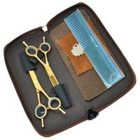 profesyonel saç kesme makası setleri toptan satış-5.5 Inç Meisha Profesyonel Salon Saç Makas Seti JP440C Saç Kesme Inceltme Makası Saç Makası Kuaförlük Şekillendirici Aracı, HA0004