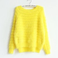 Wholesale Most Bought - Wholesale- Most Buying Pink Yellow And More Color Sweater Soft and Comfortable New Women Loose Big Thick Long-Sleeved Knit Hedging Sweater