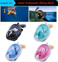 Wholesale Diving Swimming Snorkel - Brand Underwater Diving Mask Snorkel Set Swimming Training Scuba mergulho full face snorkeling mask Anti Fog camera stand M481
