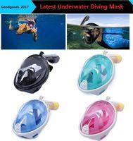 Wholesale Underwater Scuba Cameras - 2017 Brand Underwater Diving Mask Snorkel Set Swimming Training Scuba mergulho full face snorkeling mask Anti Fog camera stand M481