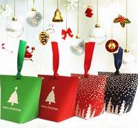 Wholesale Trapezoidal Box - New Christmas boxes Christmas theme candy box Trapezoidal gift box 10*6*12cm