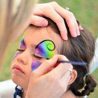 Wholesale White Face Paint Makeup - New Fashion 8 Color Easy To Wear Non-toxic Water Makeup Face Halloween Paint Color Devil Fans