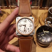 Wholesale Power 92 - Luxury Mechanical Automatic Watch For Gentleman Top Quality 42mm Br 03-92 Sports Wristwatch Male Fashion Brand Watches