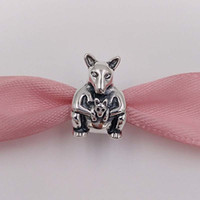 Wholesale Pandora Baby Charms - 925 Silver Beads Kangaroo & Baby Charm Fits European Pandora Style Jewelry Bracelets & Necklace 790534 for australia jewelry making