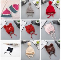 Wholesale Elf Hats Toddler - Elf Baby Winter Caps Autumn Winter Korea Kids Toddler Infant Thick Knitted Baby Hat Elf Hat Baby Bunny Beanie Cap Photo Props 0966