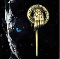 Wholesale Ice Pins - Game of Thrones Pin Brooch Song of Ice and Fire Brooch Hand Of The King Scepter Badge Brooch Metal Lapel Pin KKA2700
