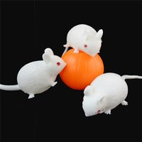 Wholesale Ball Gags Free Shipping - Wholesale-Free Shipping Cartoon Anti Stress Face Reliever Venting Ball Mouse Squeeze Funny Tricky Toy Kids Children Gags Practical Jokes