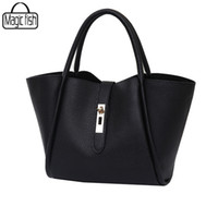 Wholesale Special Tote Brands - Wholesale-New 2016 Good Quality Women Handbags Famous Brands Special Trapeze 2 PCS In Set Luxury Shoulder Bag Tote Lady Pouch C0458