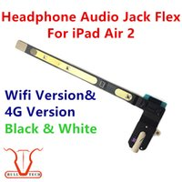 Wholesale Earphone Coloured - iPad Air 2 Headphone Earphone Audio Jack Flex Cable For iPad 6 for iPad Air 2 Black and White Colour DHL Free Shipping