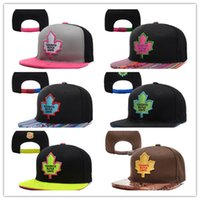 Wholesale Cheap Sports Fitted Hats - Good Quality Cheap Wholesales Toronto Maple Leafs Baseball Snapbacks Baseball Embroidered Team logo Sport Fit Hats Adjustable Cap