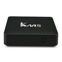 Wholesale android tv cortex for sale - KM5 Smart Android TV Box Amlogic S905X bit Quad Core Cortex A53 Android Box GB GB Google K Streaming Player