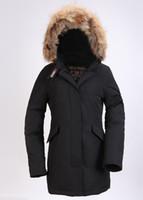 Wholesale Women S Hooded Fleece Coat - New fashion brand woman down jacket Coat Fur Expedition parka woman jacket and the size of the woman jacket coat cotton