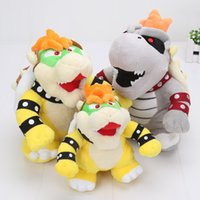 Wholesale Dry Bones Plush Doll - 5pcs 17-24cm Super mario Bros Koopa Plush Toys Morton Koopa Bolster Dry Bones Bowser figure toy Stuffed Animals & Plush Dolls