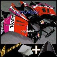 вторичный рынок мотоциклов оптовых-Мотоцикл пластиковый обтекатель для Honda CBR600F3 1995-1996 95 96 F3 1995 1996 repsol красный ABS Aftermarket