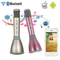Wholesale Cheap Computer Microphones - Cheap K068 Wireless Microphone microfone with Mic Speaker Condenser Mini Karaoke Player KTV Singing Record for Smart Phones