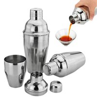 Wholesale Wholesale Cocktail Mixers - 550ml Stainless Steel Cocktail Shaker Cocktail Mixer Wine Martini Drinking Boston Style Shaker For Party Bar Tool