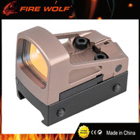 Wholesale Red Dot Reflex Sight Airsoft - FIRE WOLF Tactical RMS Reflex Mini Red Dot Sight Scope With Ventilated Mounting and Spacers For Airsoft Glock Pistol