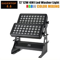 Wholesale Case Changes Light Color - TIPTOP Flight Case 1in1 Pack 870W Super Powerful RGBW Stage Led Wall Washer Light 72*12W 4IN1 Linear Color Changing Waterproof