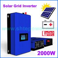 saída do inversor ac dc venda por atacado-2KW New solar Grid Tie inversor 2000 w com função de energia de descarga da bateria DC 45-90 v conversor de entrada para a saída AC