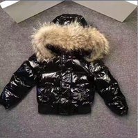 Wholesale Girls Warm Pants - ME17 Kid snow Suit Boys girls jacket Pants waterproof real raccoon fur collar outwear winter french warm snow coat children parka